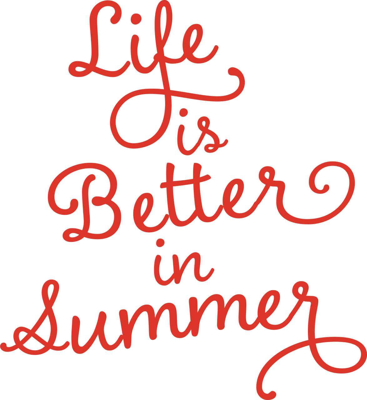 Life Is Better In Summer SVG Cut File