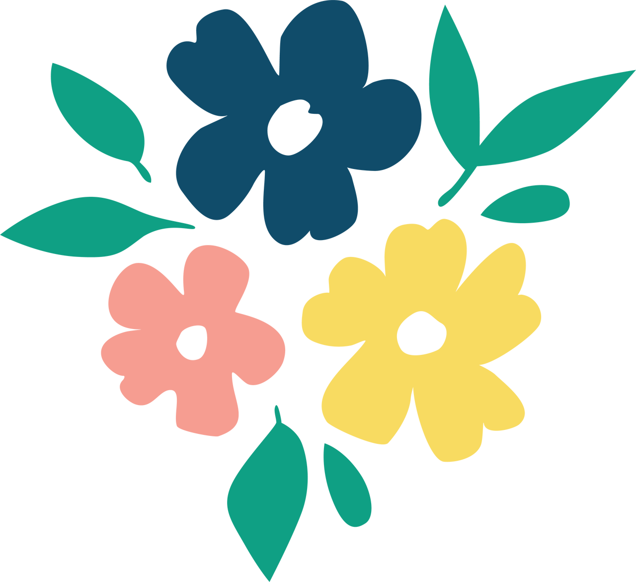 Summer Flowers SVG Cut File