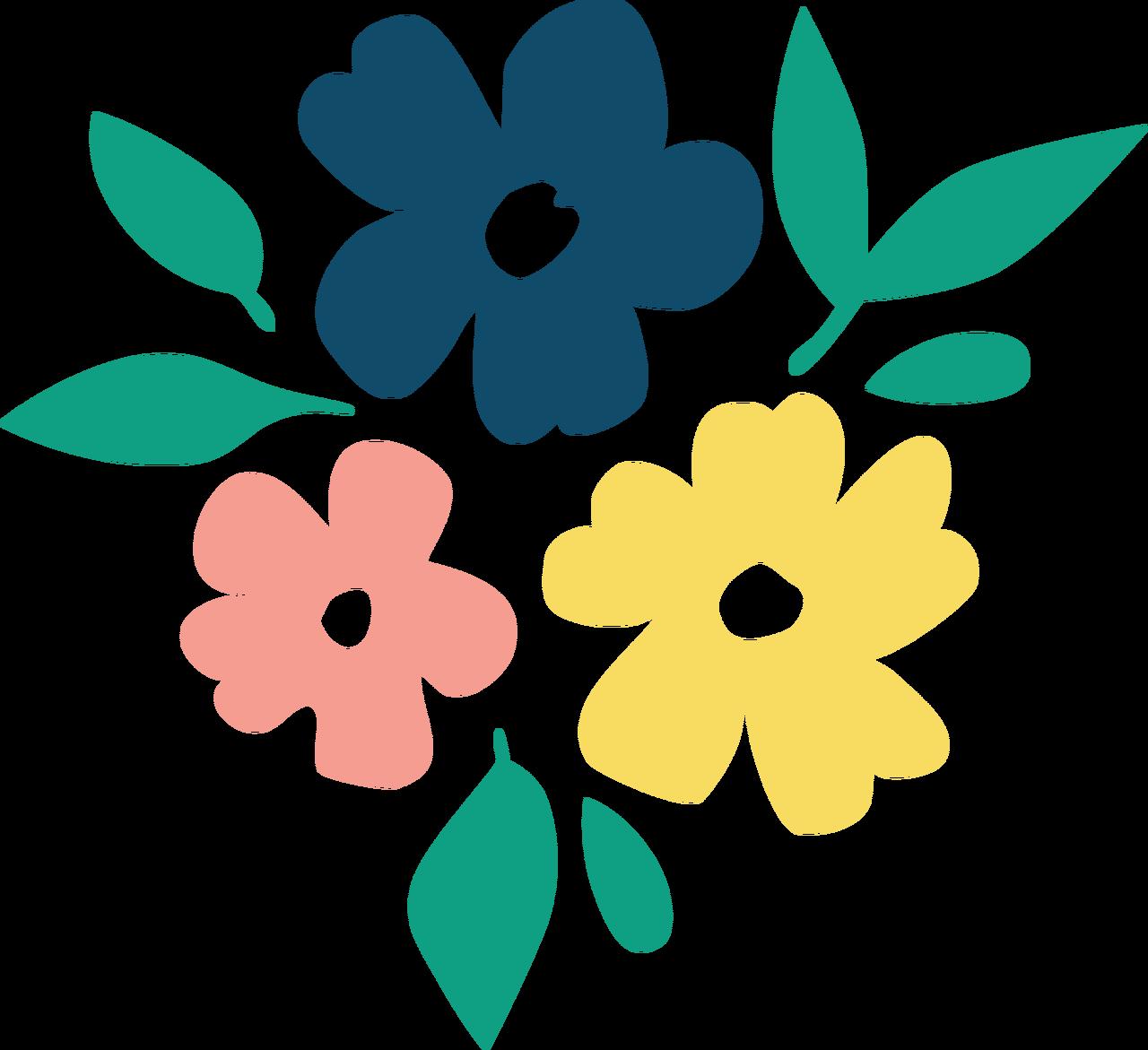 Summer Flowers SVG Cut File