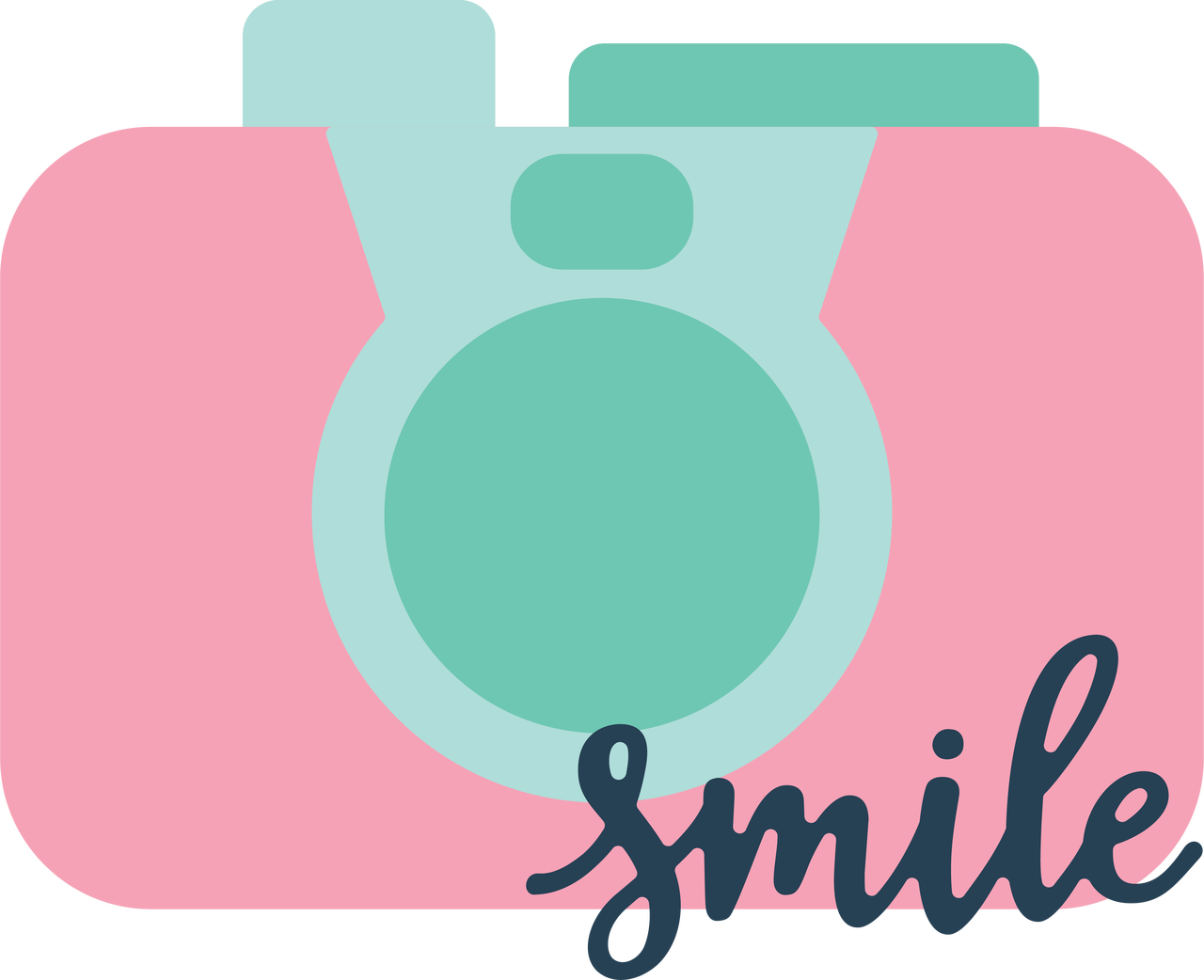 Smile Camera SVG Cut File