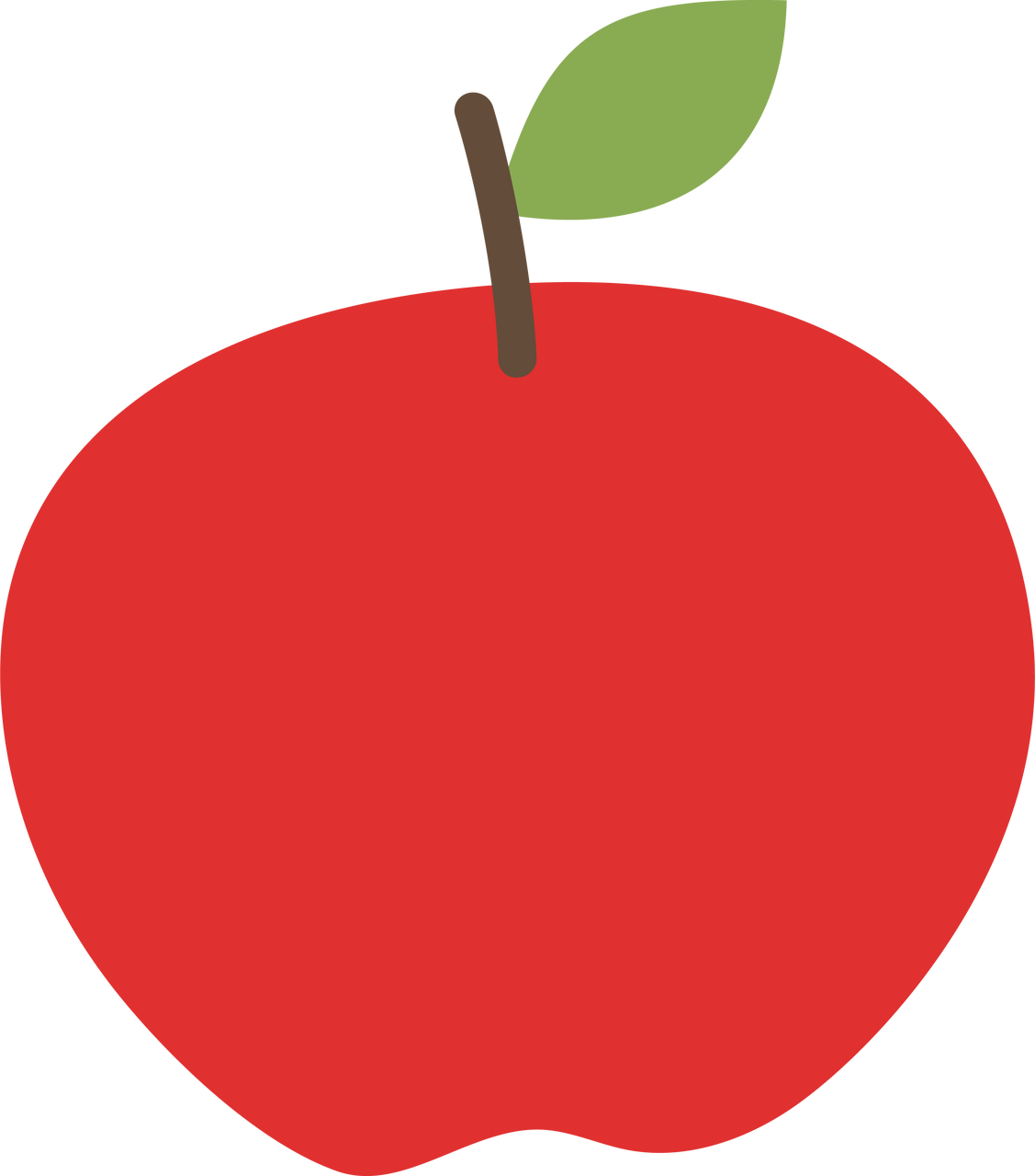 Red Apple SVG Cut File