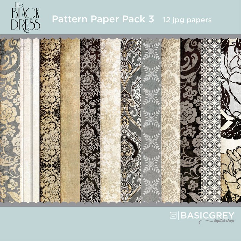 Little Black Dress Paper Pack 3