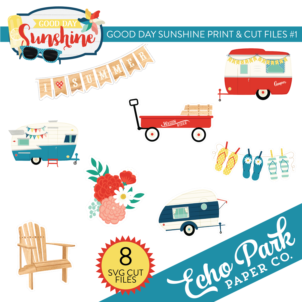 Good Day Sunshine Print & Cut Files #1