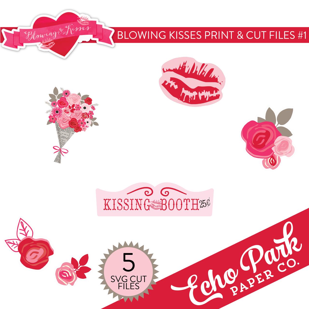 Blowing Kisses Print & Cut Files #1