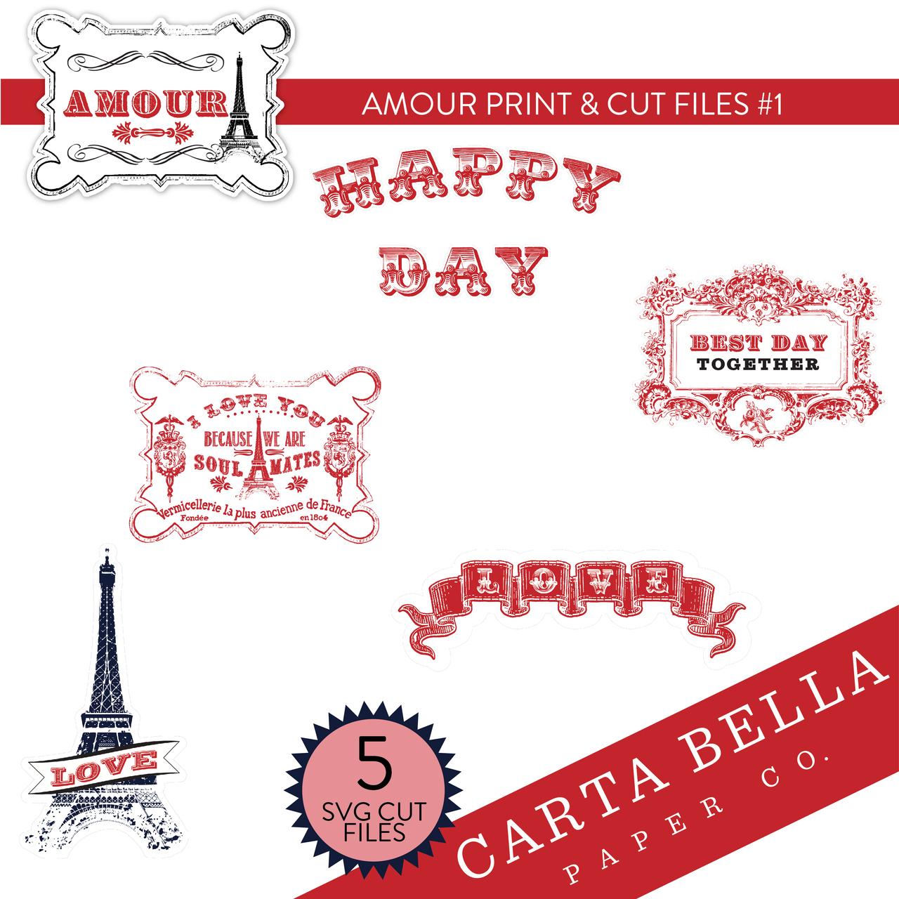 Amour Print & Cut Files #1