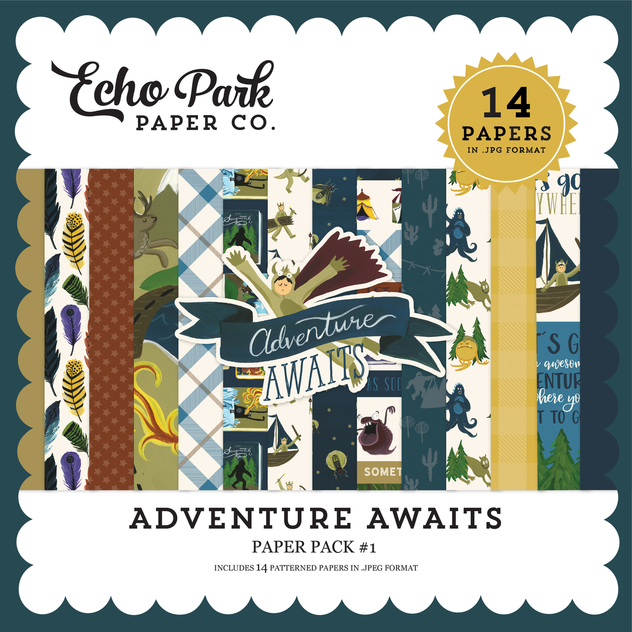 Adventure Awaits Paper Pack #1