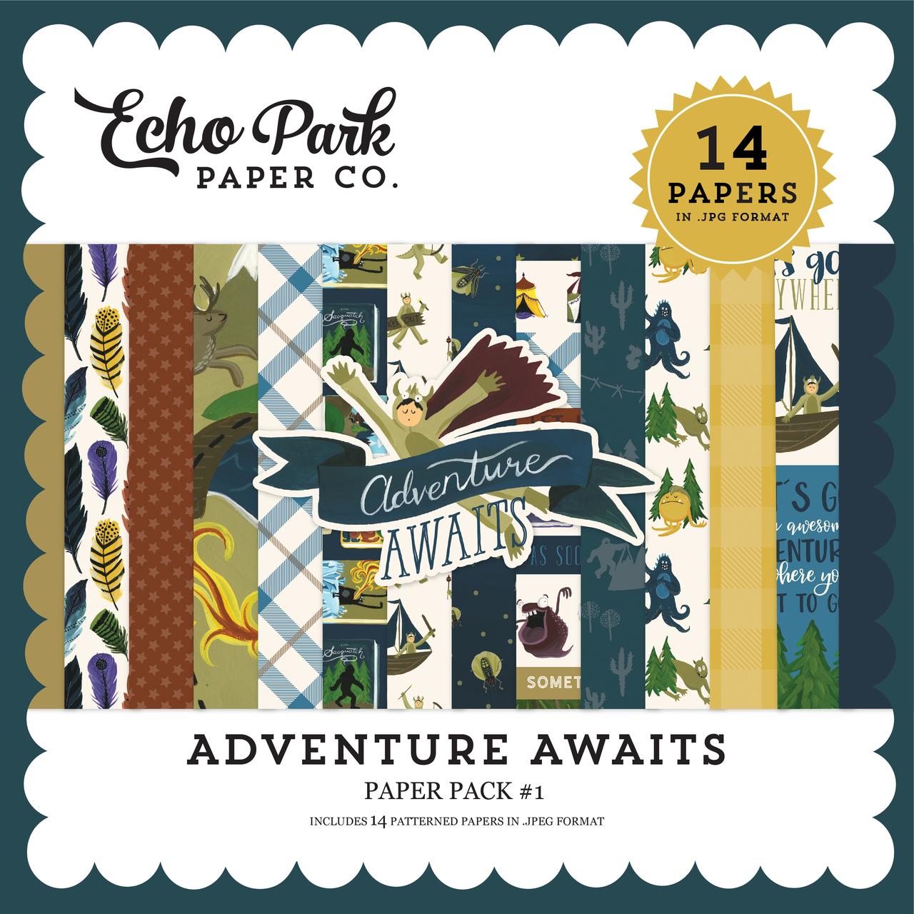Adventure Awaits Paper Pack #1