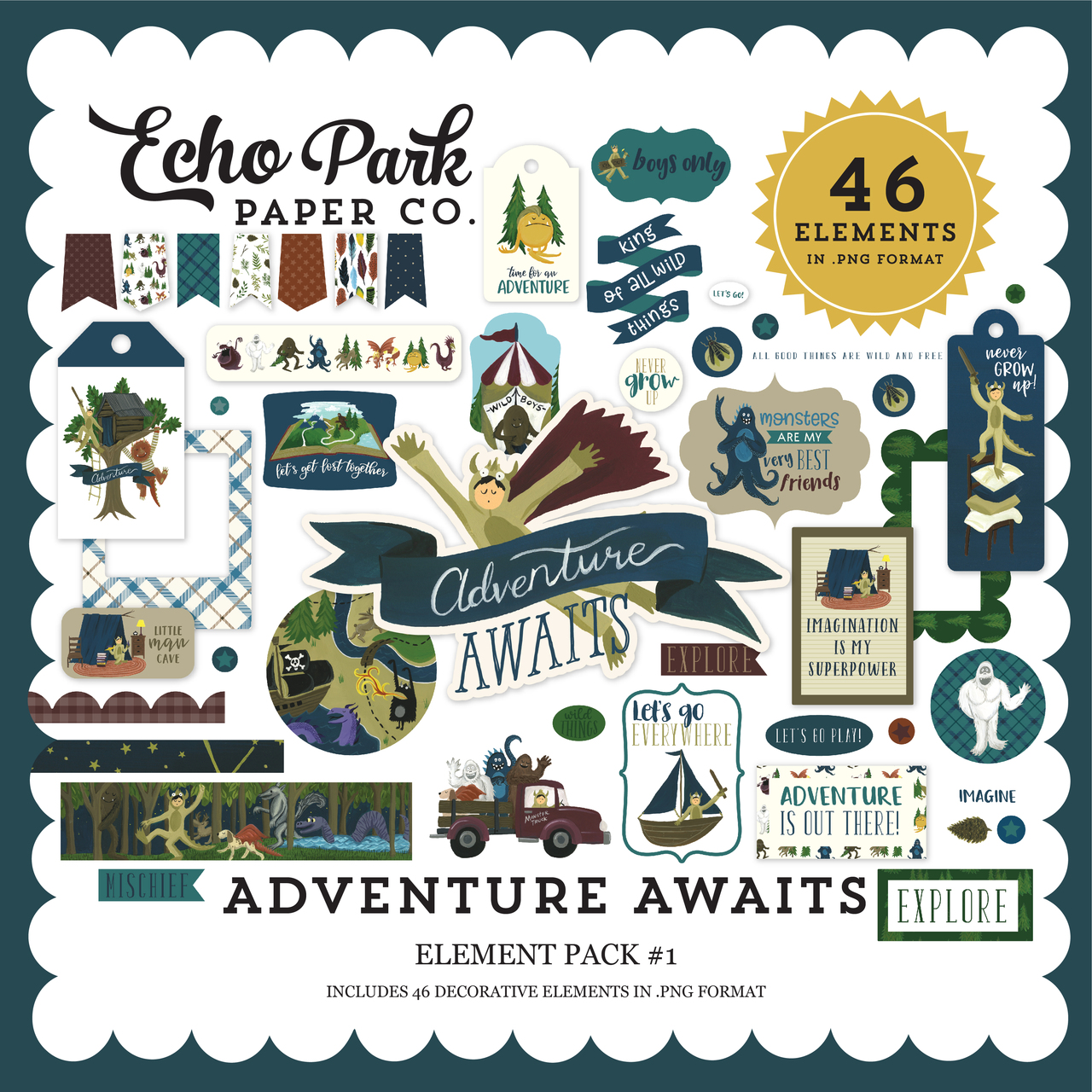 Adventure Awaits Element Pack #1