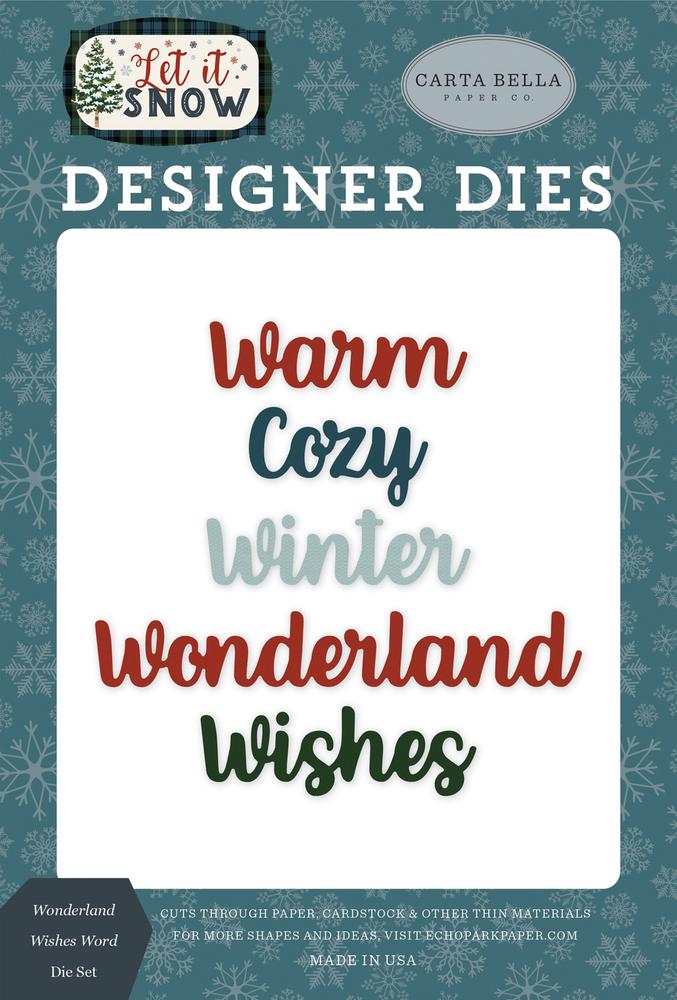 Wonderland Wishes Word Die Set