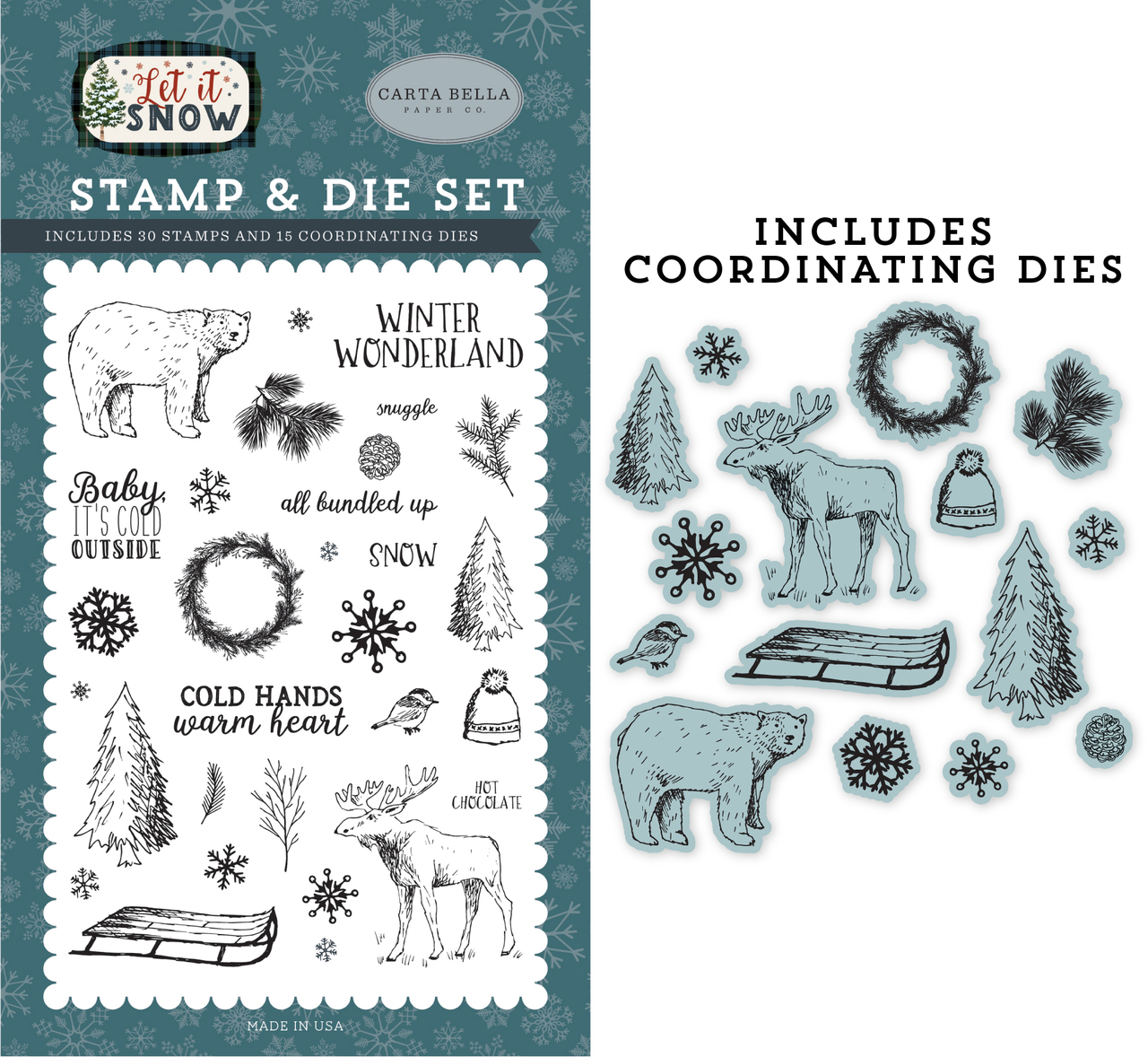 Cold Hands, Warm Heart Die/Stamp Set