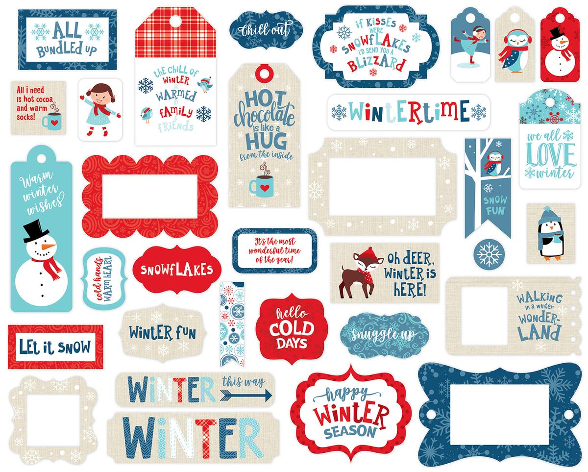 Celebrate Winter Frames & Tags Ephemera