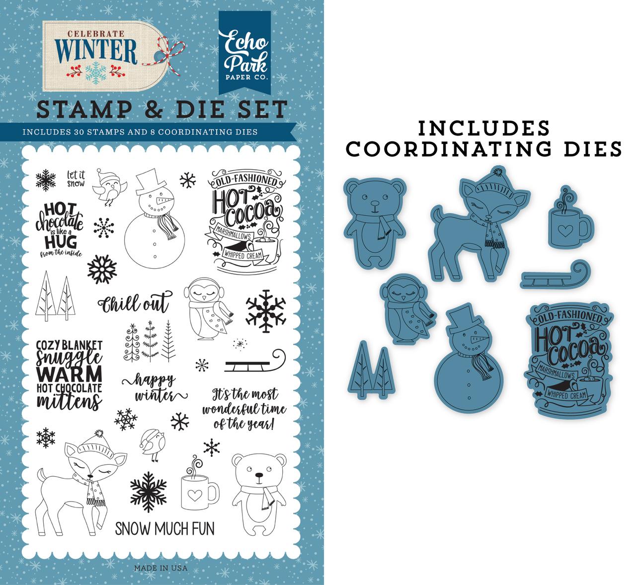 Happy Winter Die/Stamp Set