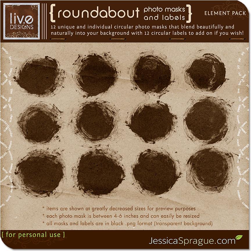 Roundabout Photo Masks & Labels