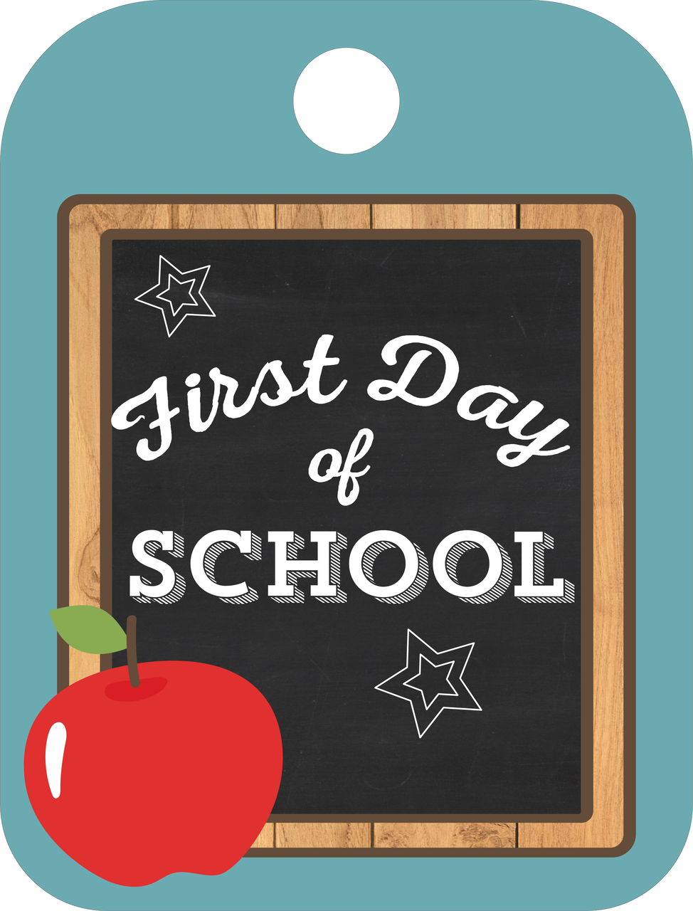 First Day Of School Tag Print & Cut File
