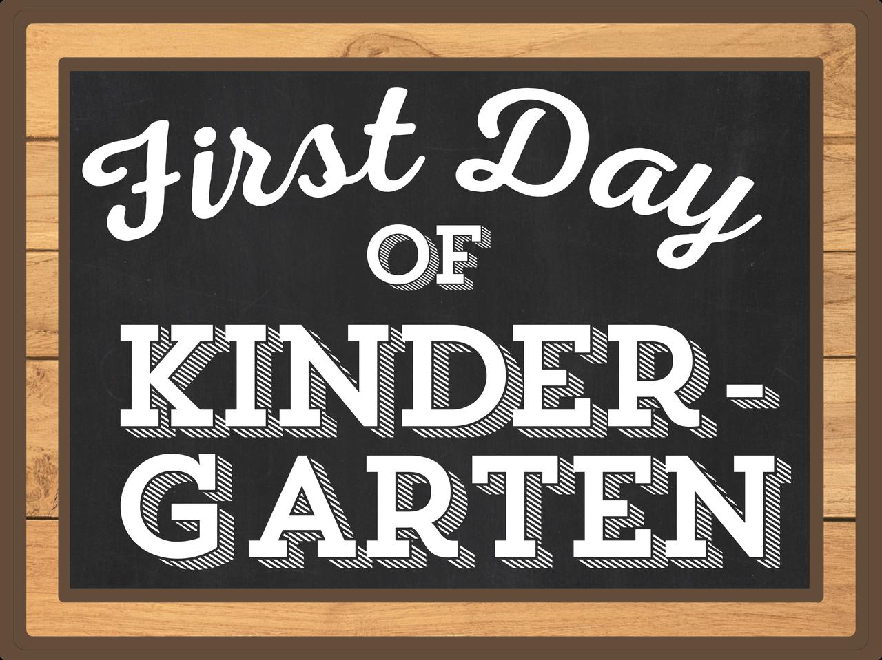 First Day Of Kindergarten Print & Cut File