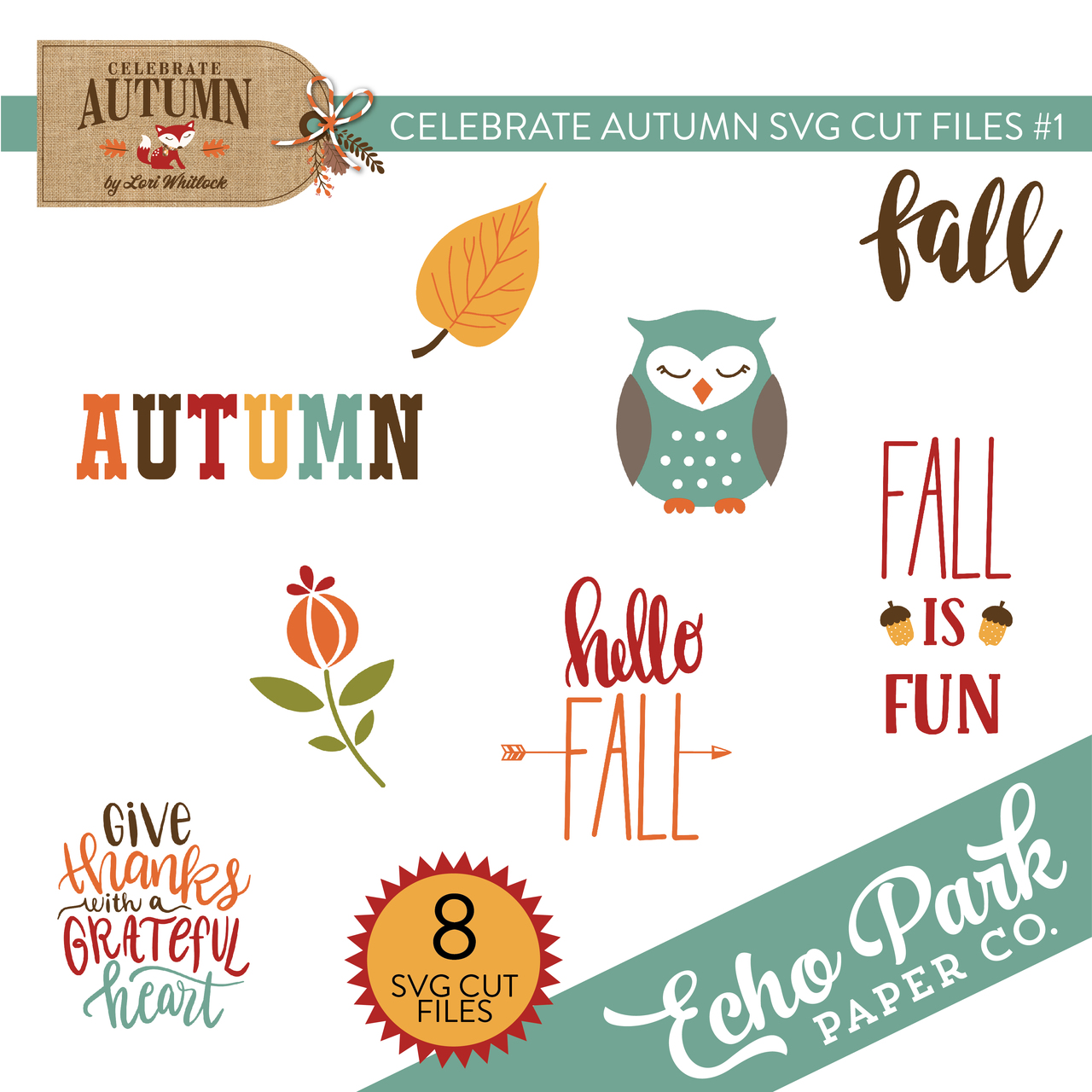 Celebrate Autumn SVG Cut Files #1