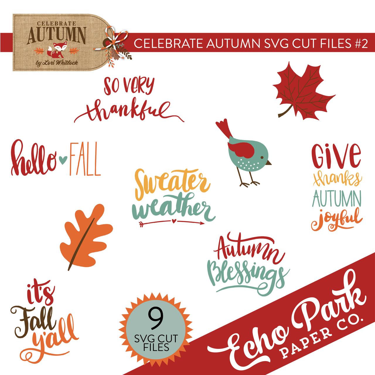 Celebrate Autumn SVG Cut Files #2