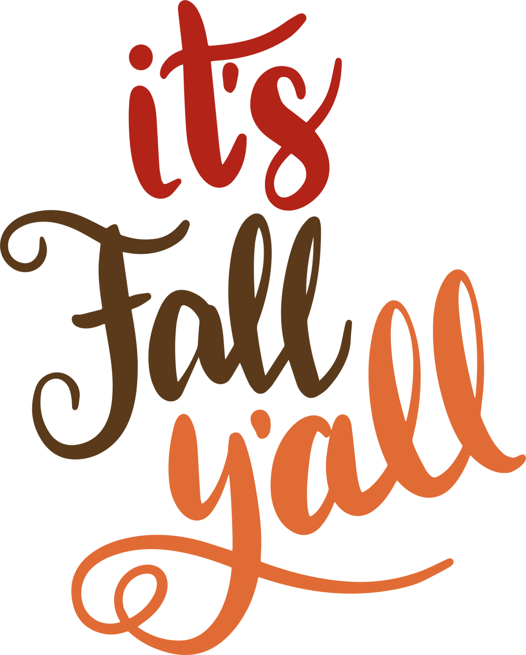 Download It's Fall Y'all SVG Cut File - Snap Click Supply Co.