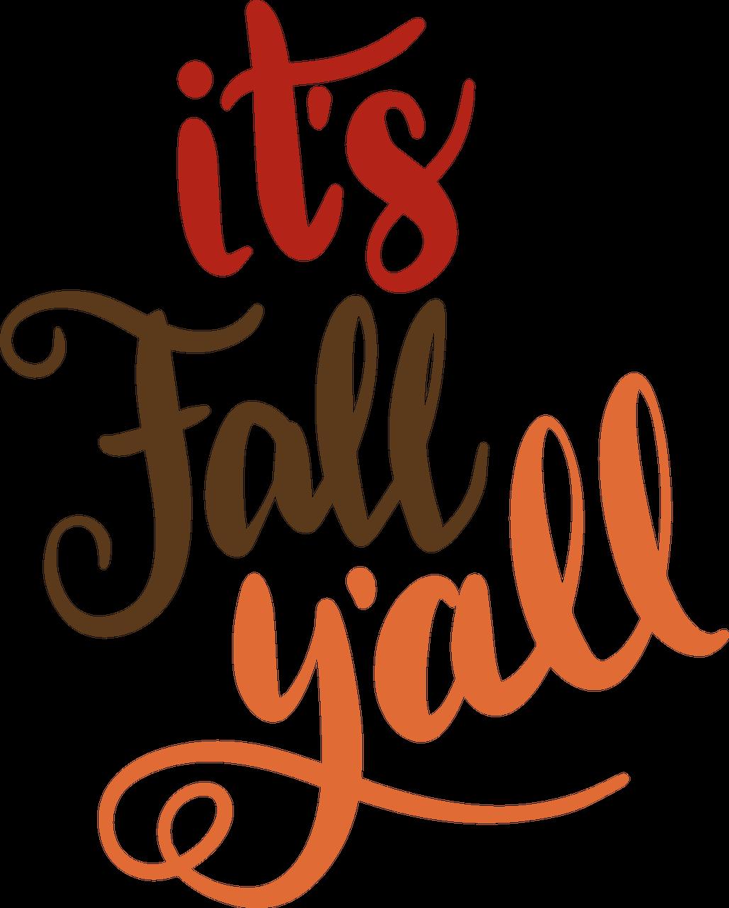 It's Fall Y'all SVG Cut File