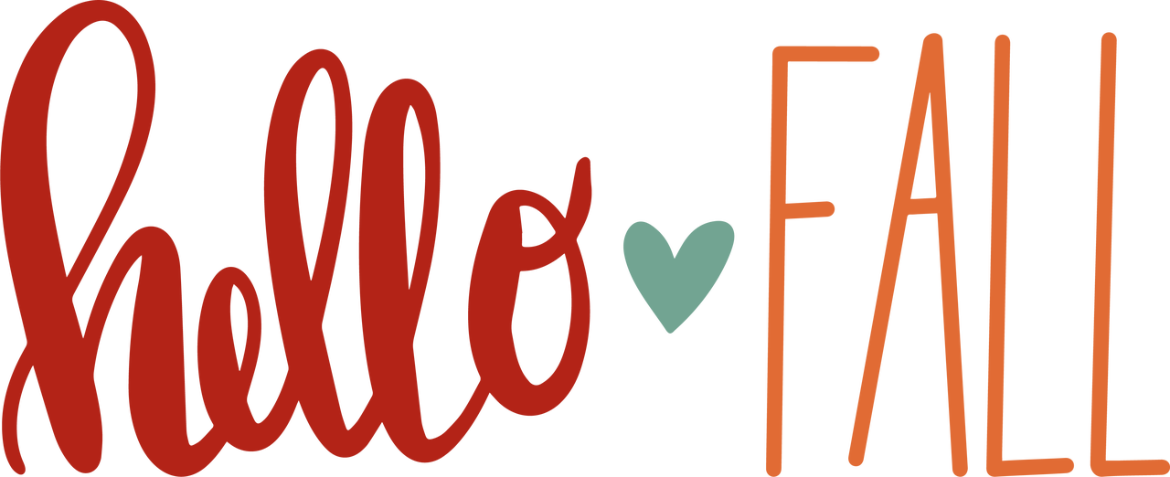 Hello Fall #2 SVG Cut File