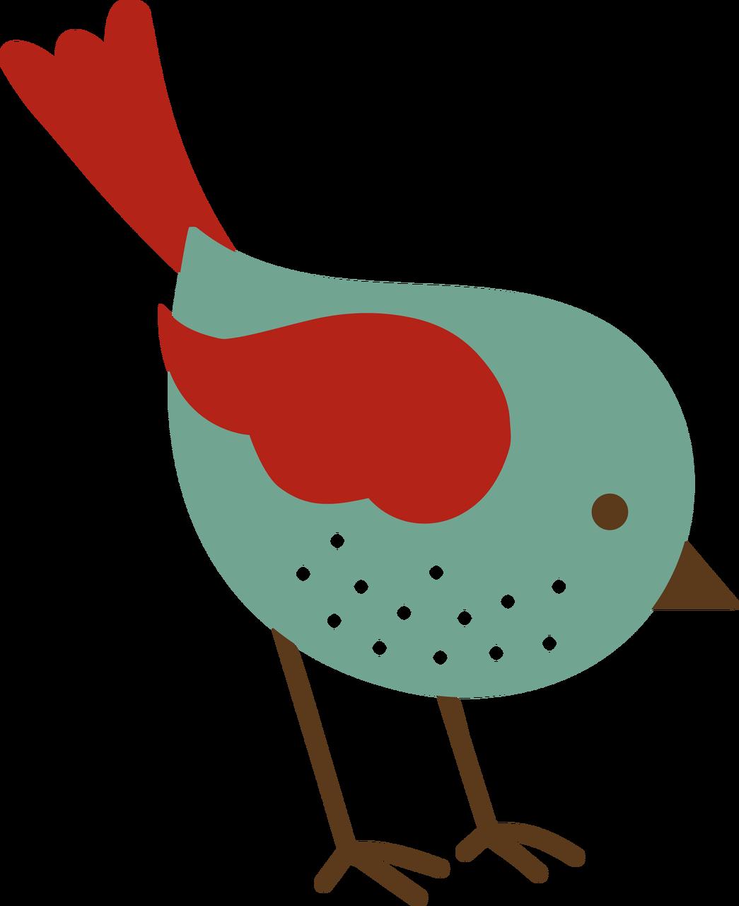 Autumn Bird SVG Cut File