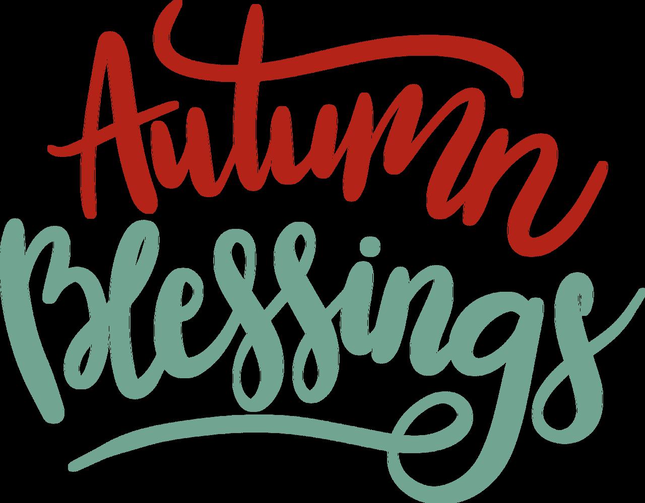 Autumn Blessings SVG Cut File