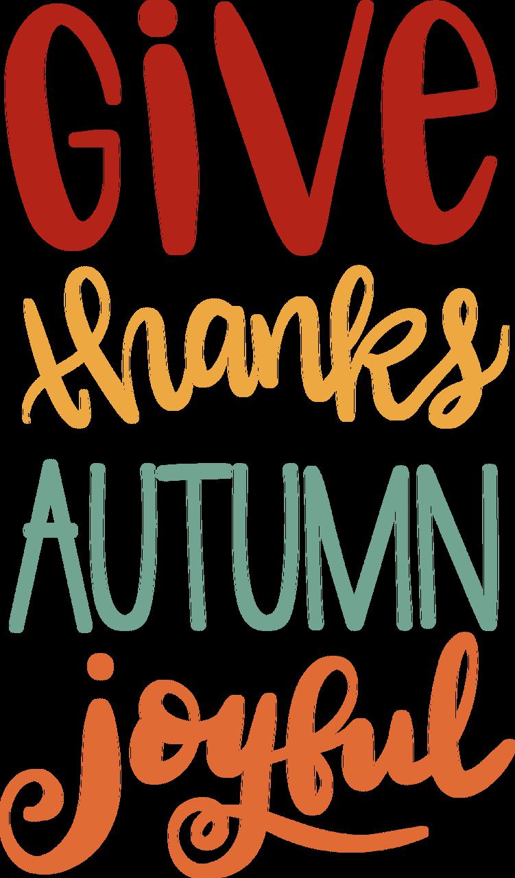 Give Thanks Autumn Joyful SVG Cut File