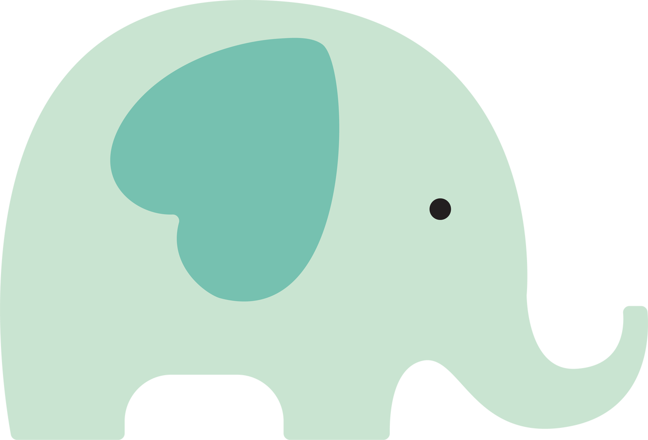 Baby Elephant SVG Cut File