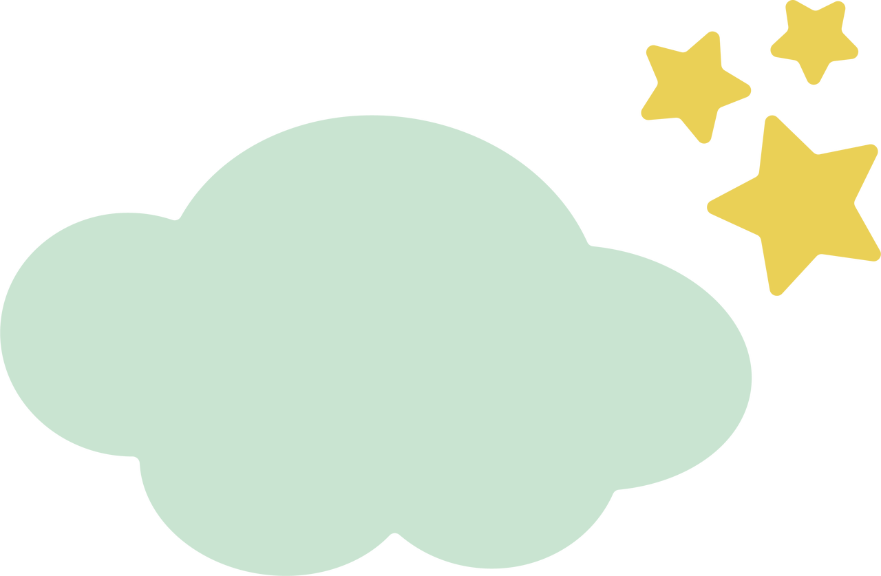 Cloud and Stars SVG Cut File