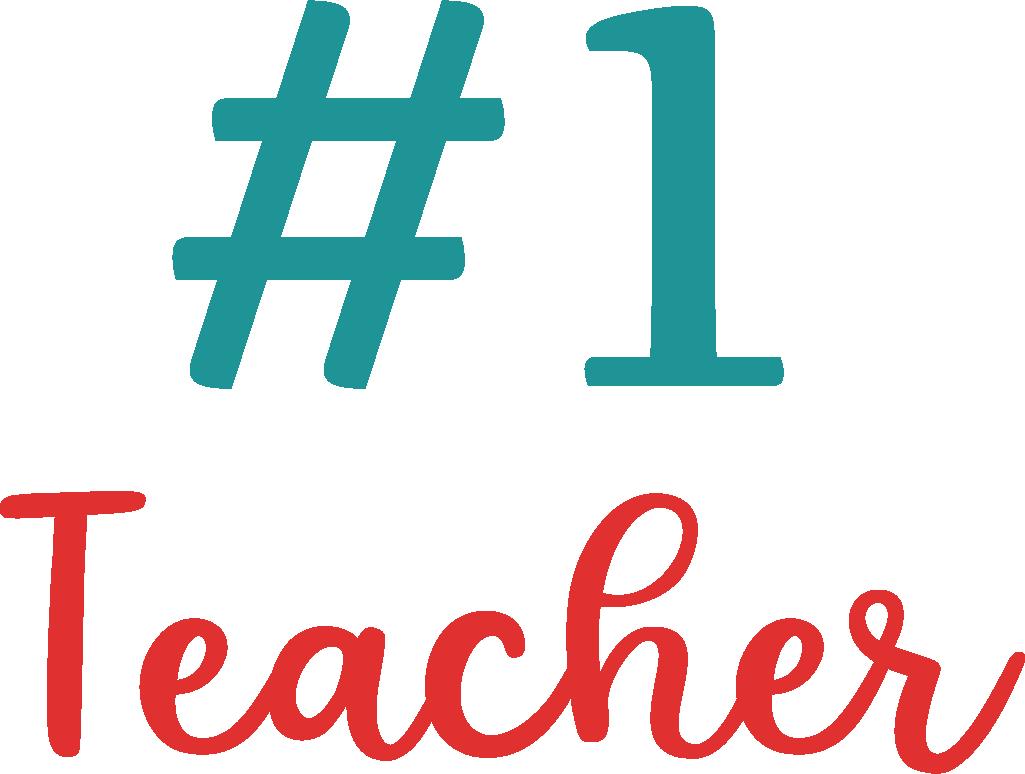1 Teacher SVG Cut File