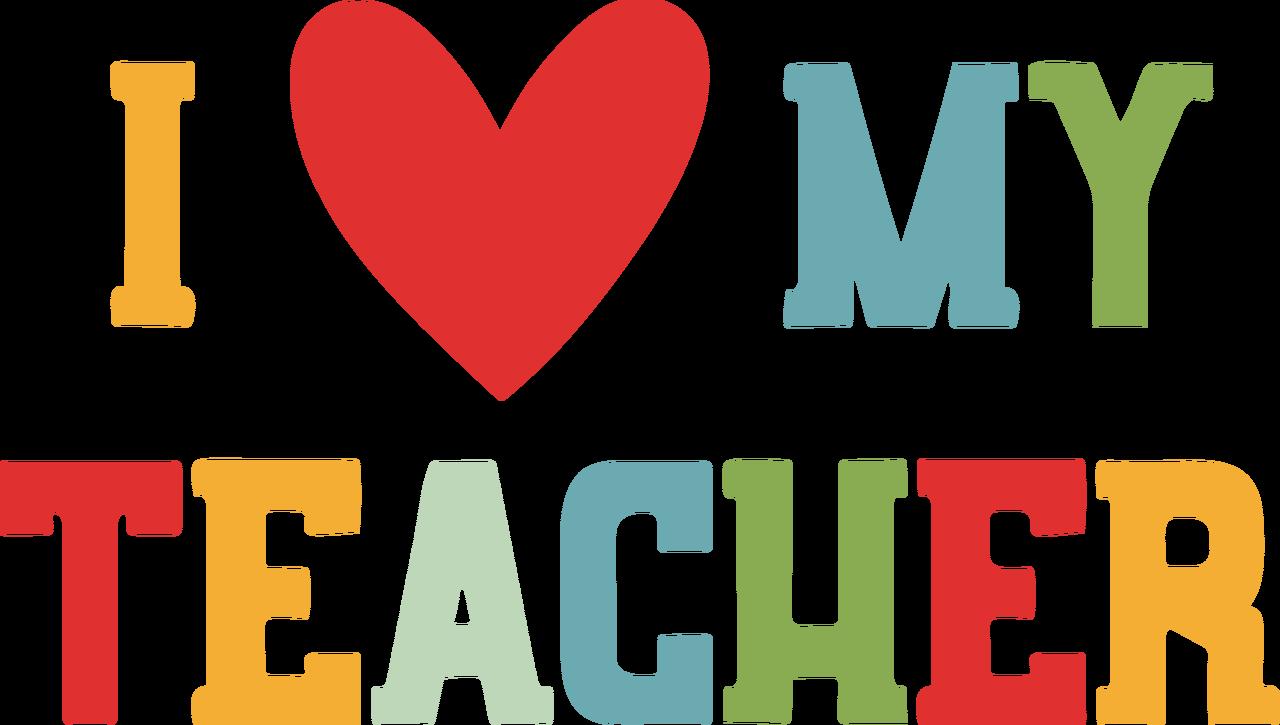 I Heart My Teacher SVG Cut File