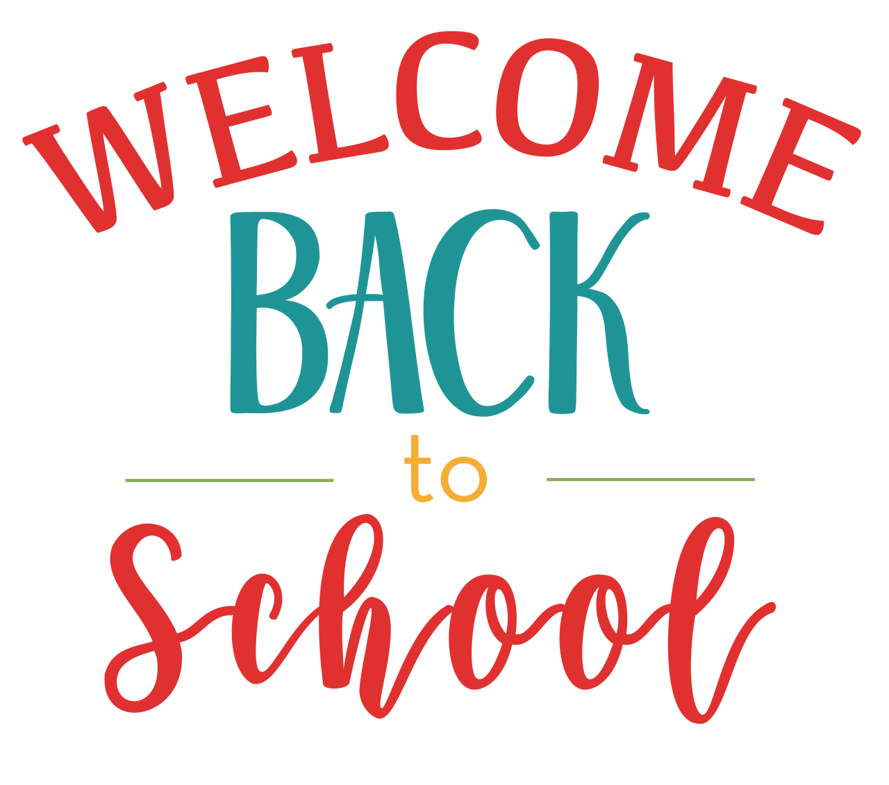 Welcome Back To School SVG Cut File - Snap Click Supply Co.