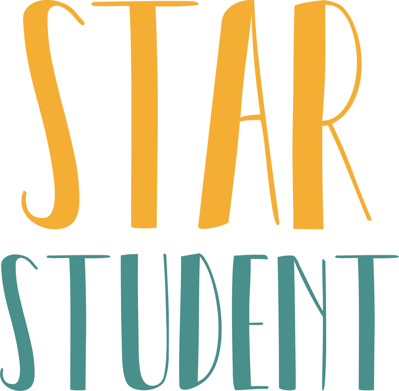 Star Student SVG Cut File