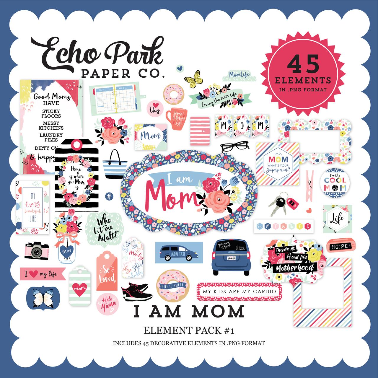 I Am Mom Element Pack #1