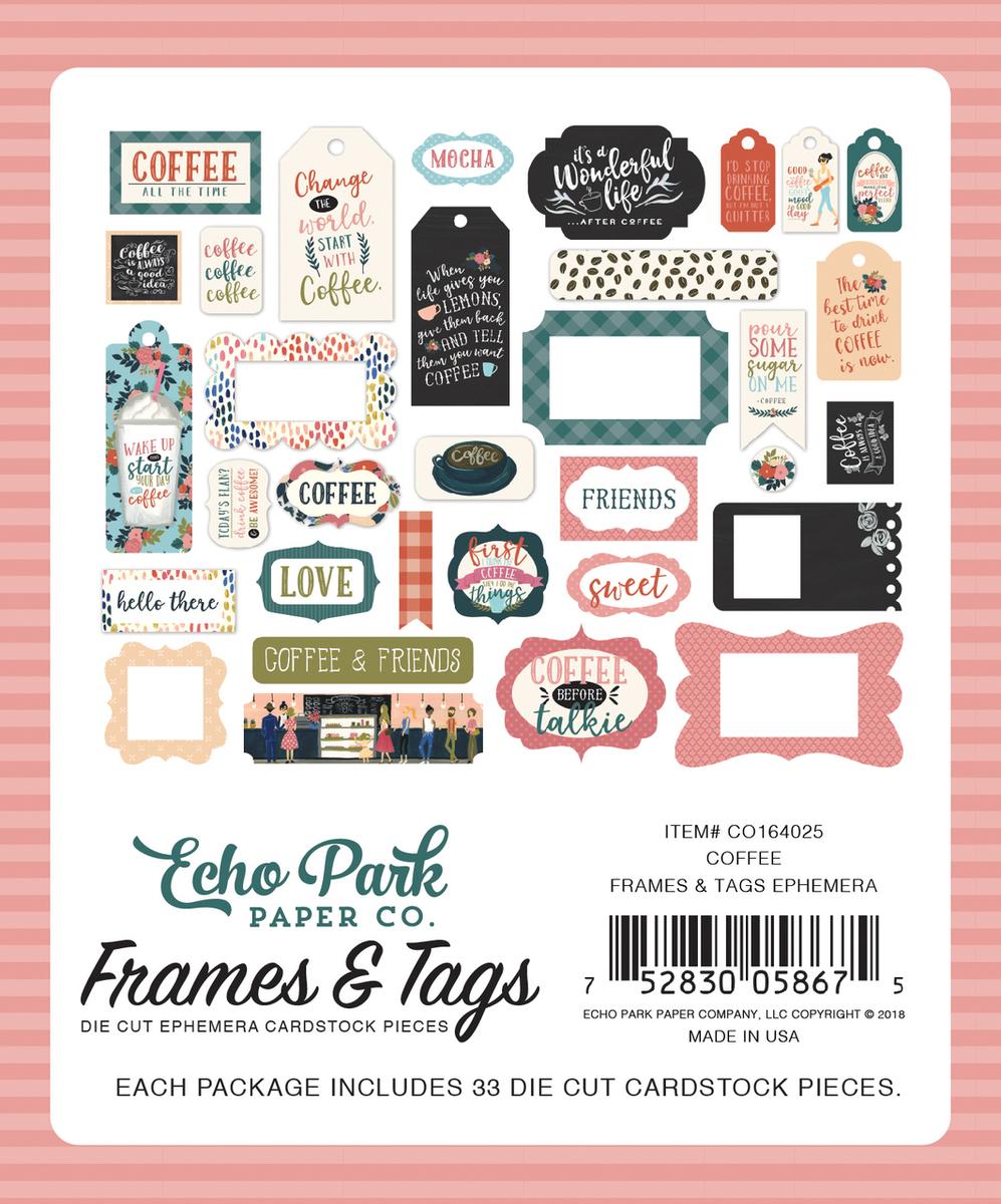 Coffee Frames & Tags Ephemera