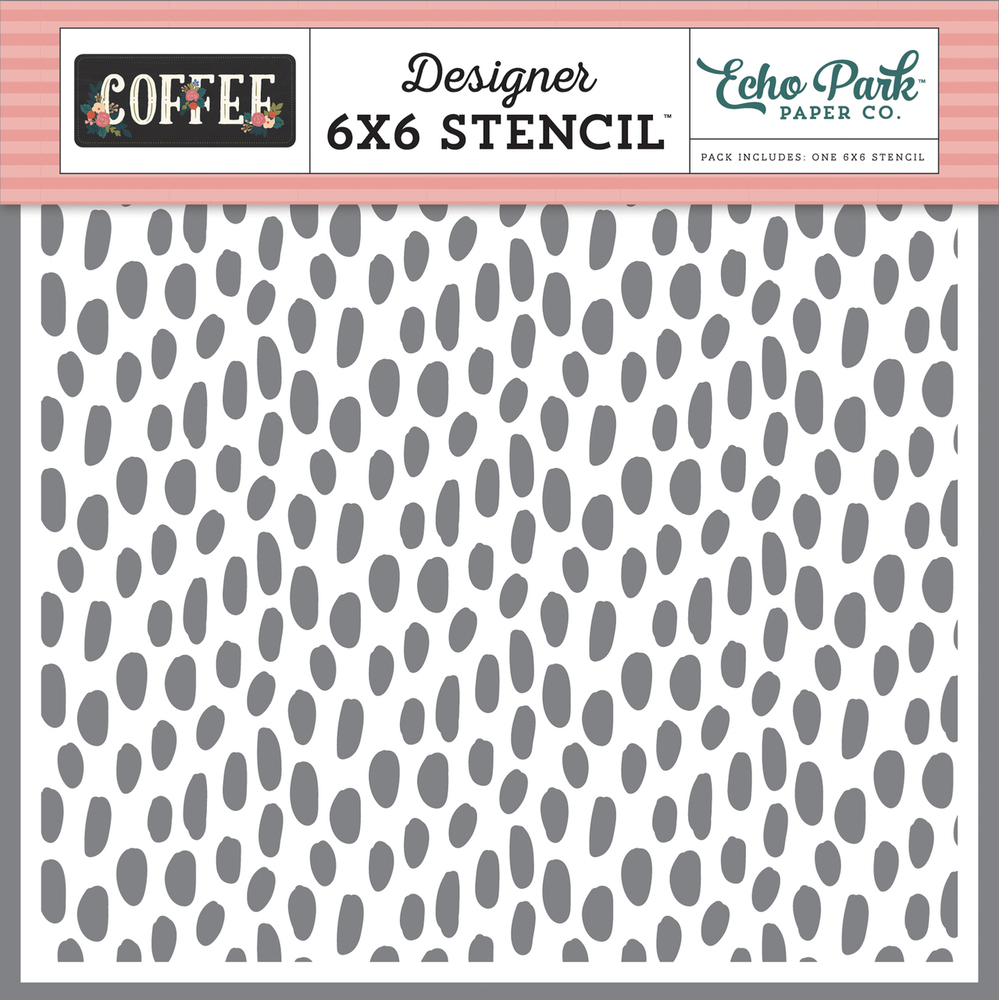 Coffee Dot Stencil