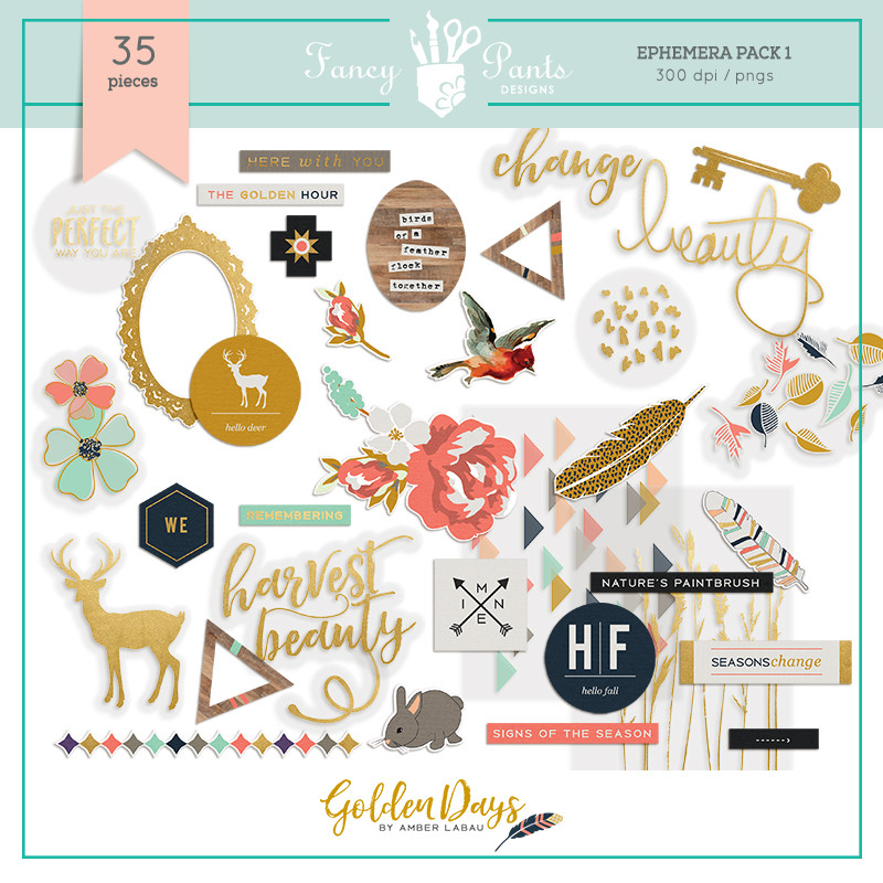 Golden Days Elements Pack 1
