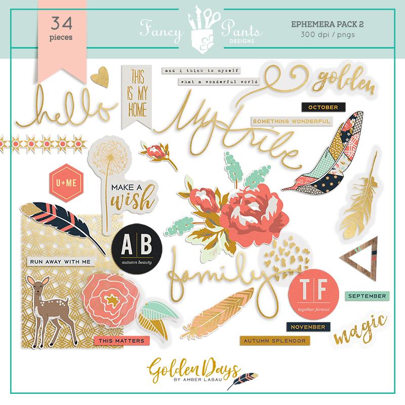 Golden Days Elements Pack 2