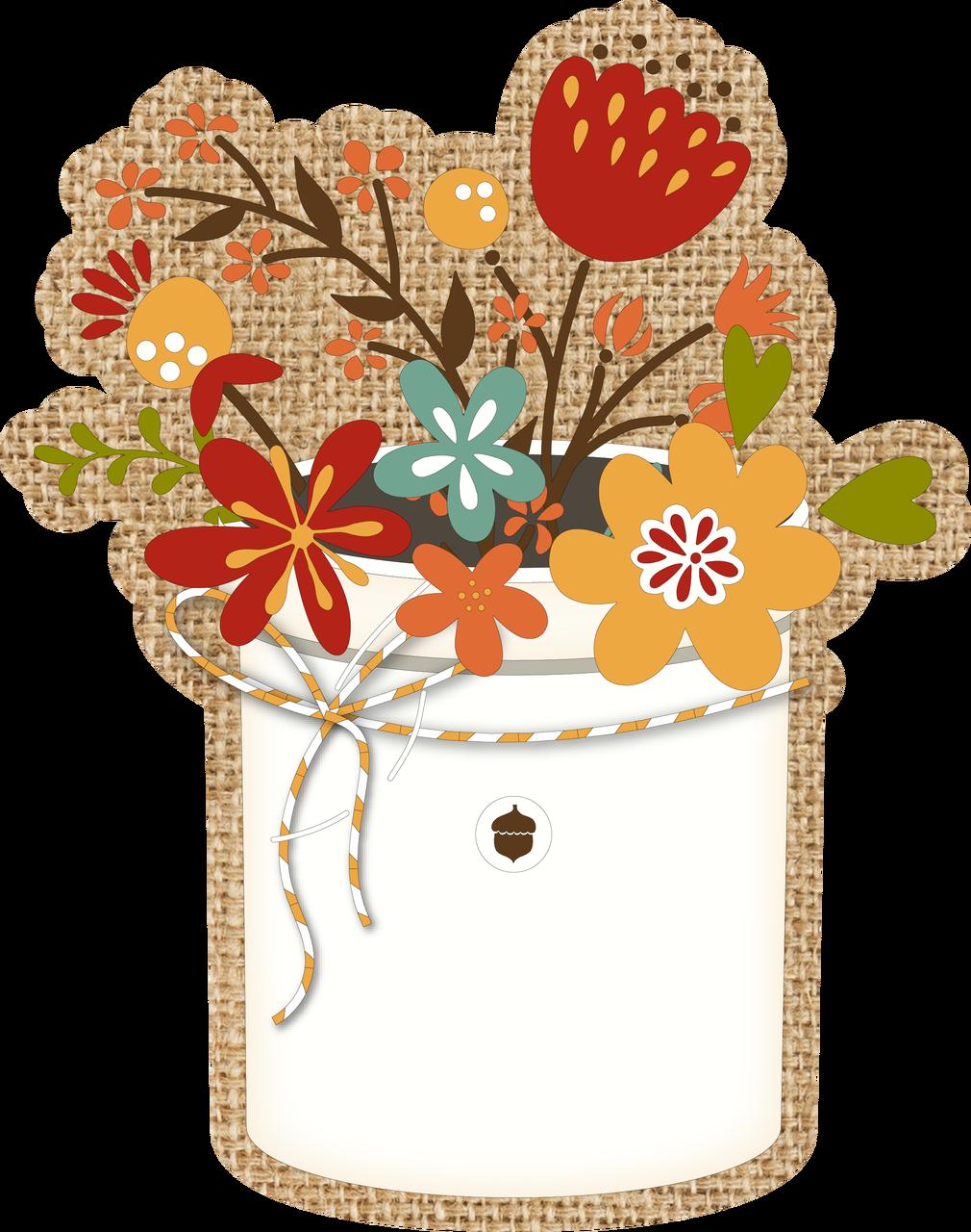 Flower Pot Print & Cut File