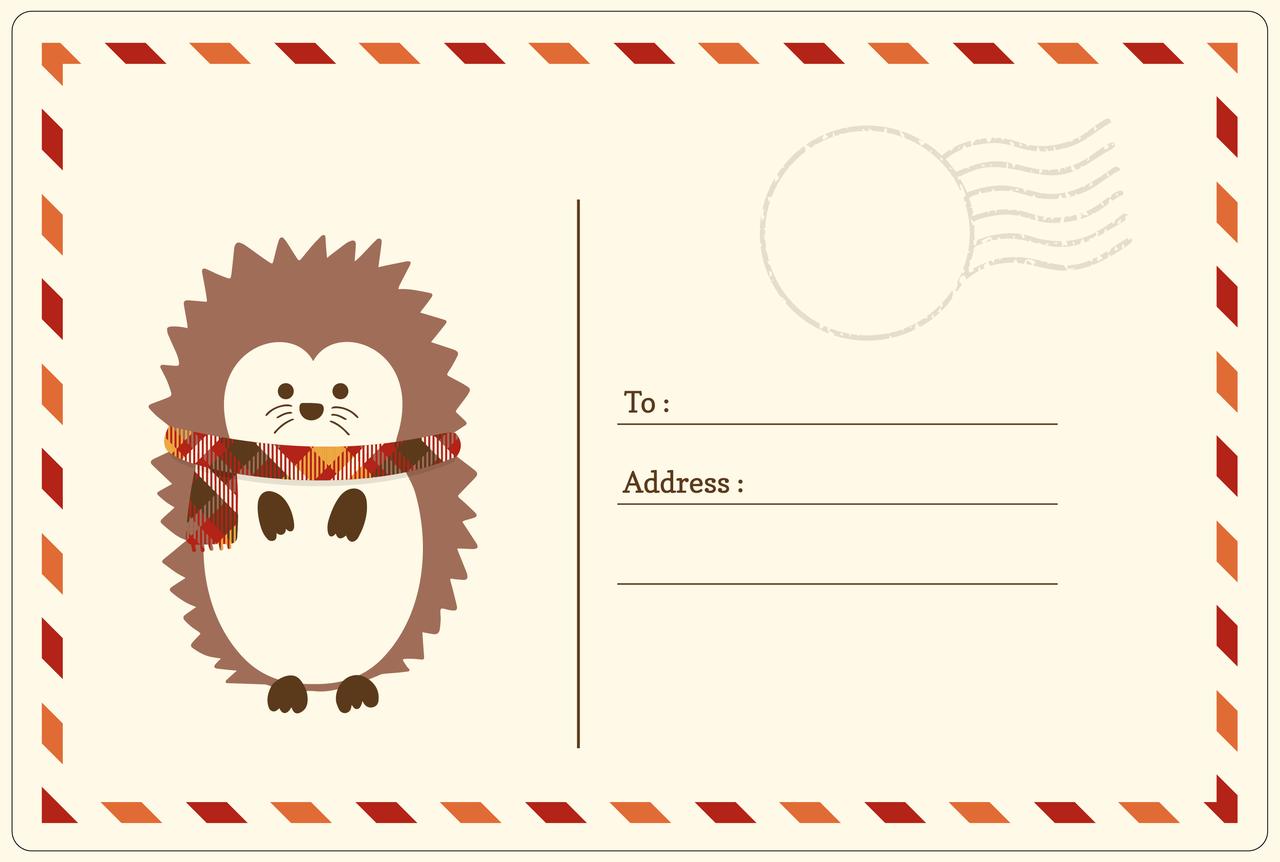 Fall Postcard Print & Cut File