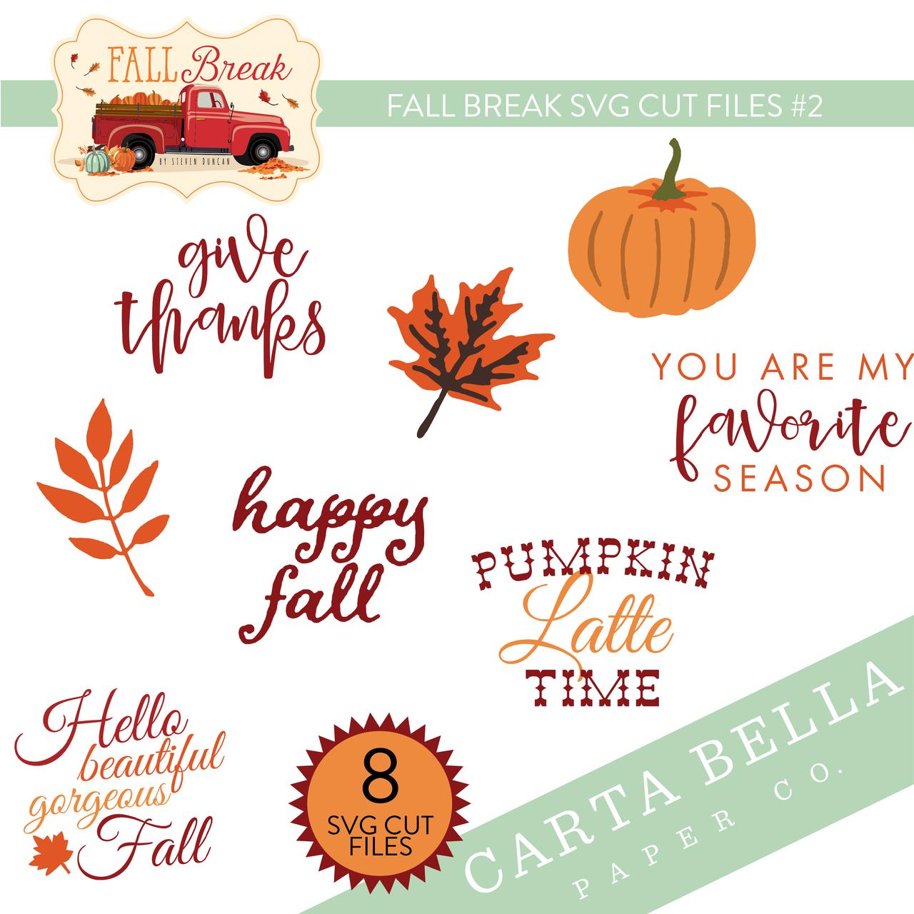 Fall Break SVG Cut Files #2