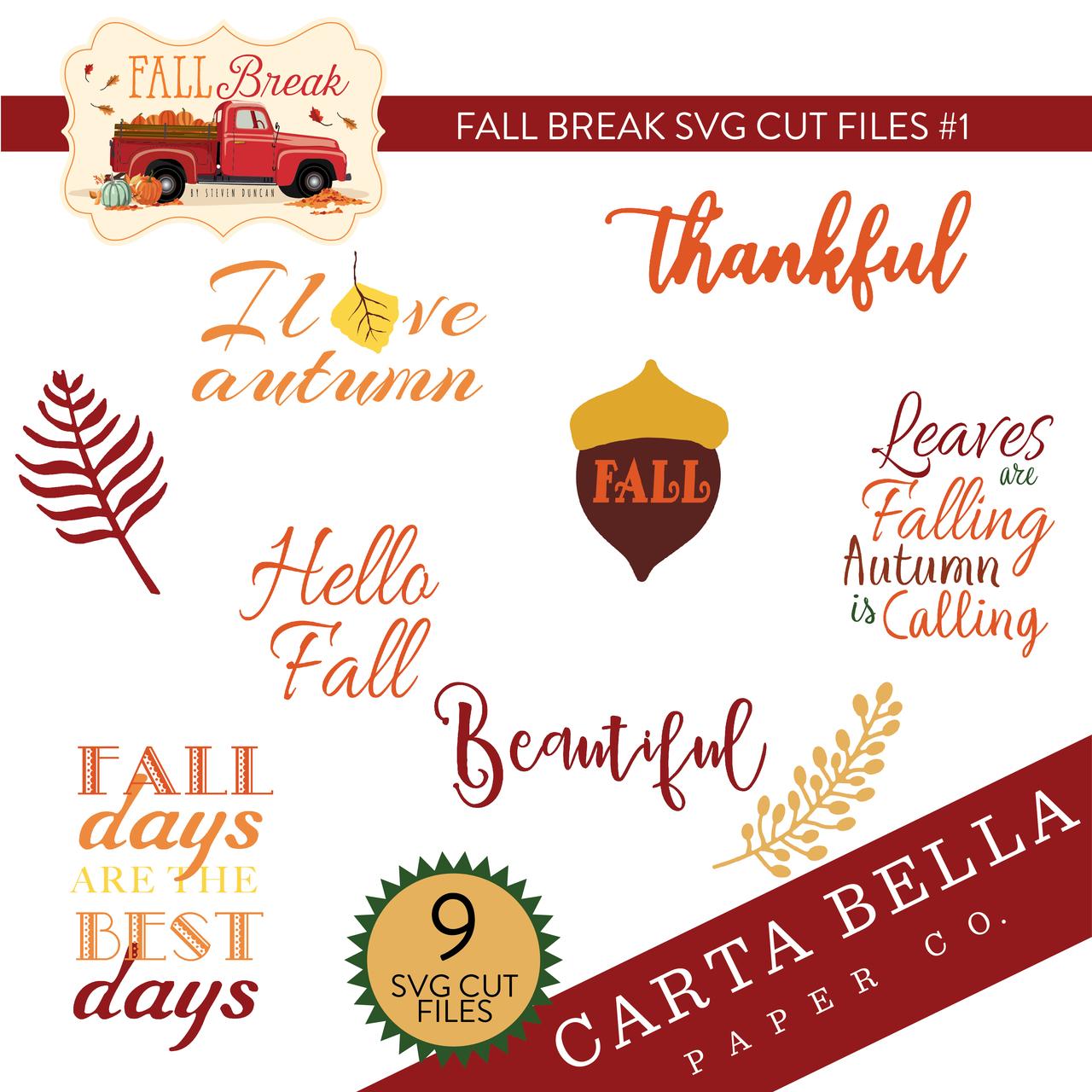 Fall Break SVG Cut Files #1