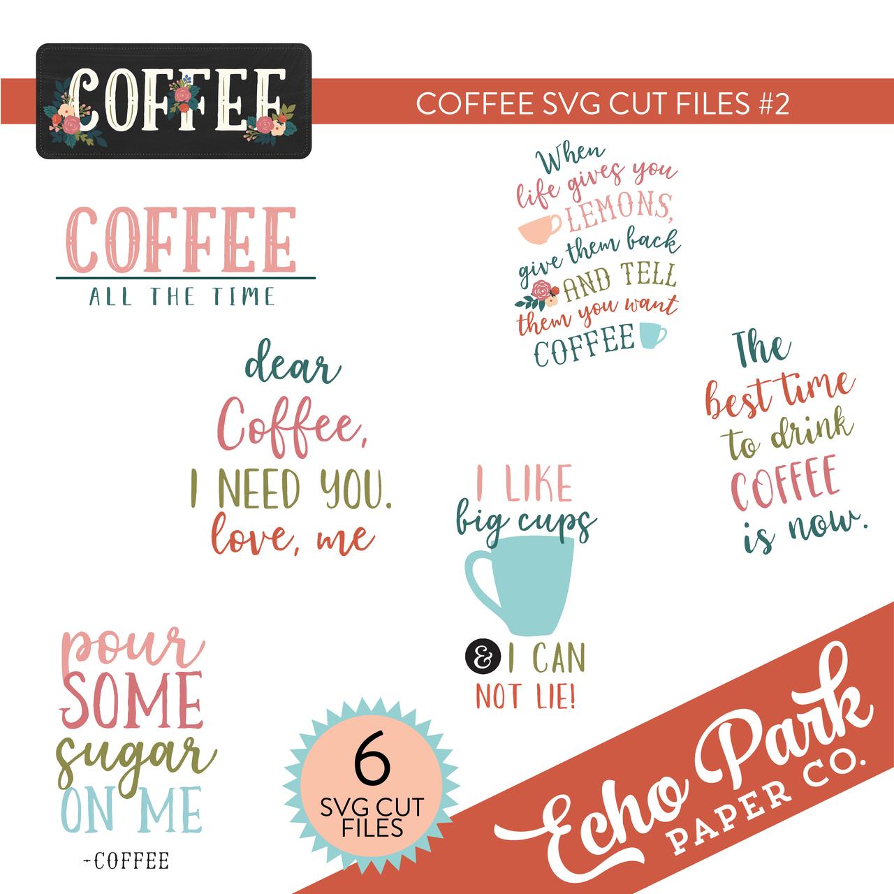 Coffee SVG Cut Files #2