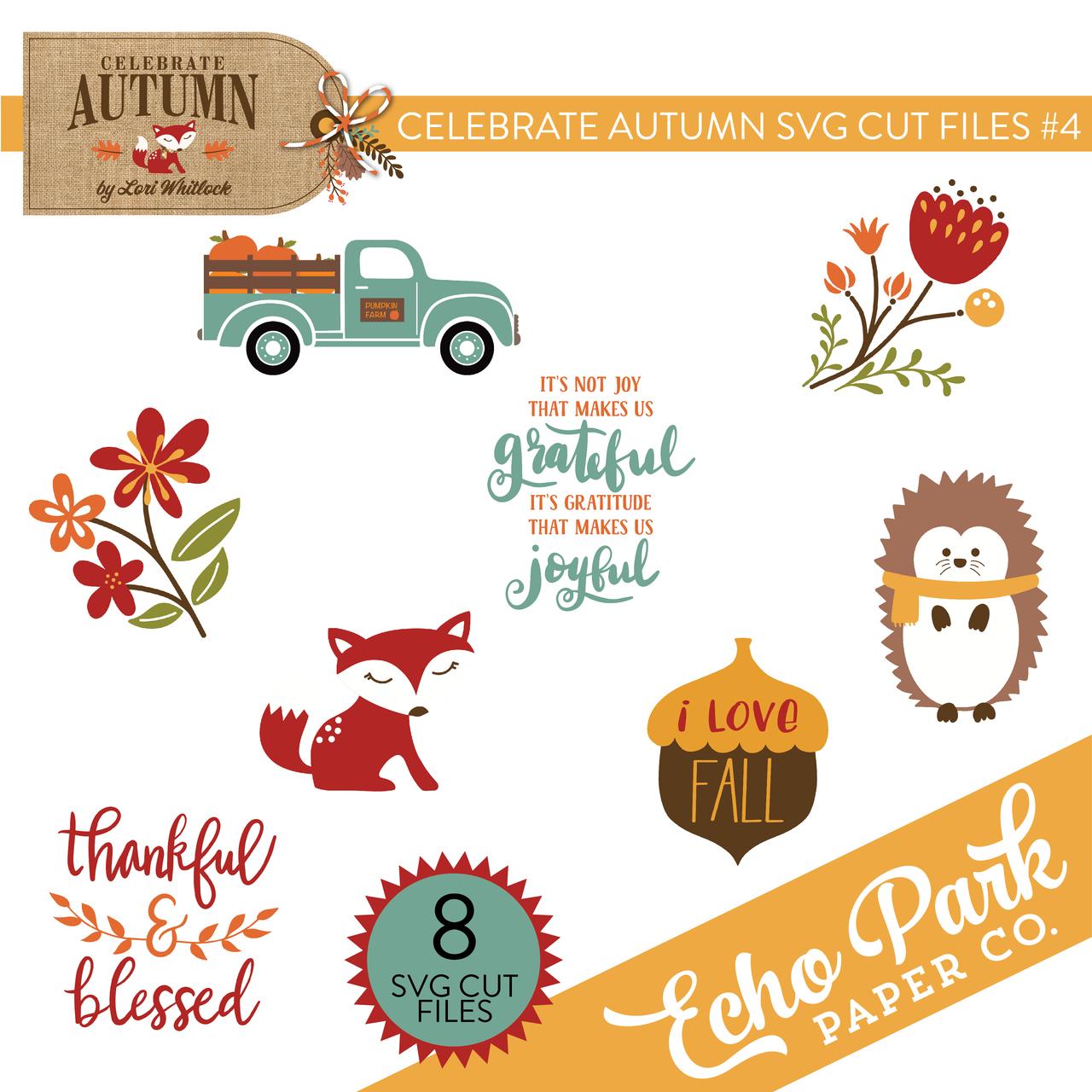 Celebrate Autumn SVG Cut Files #4