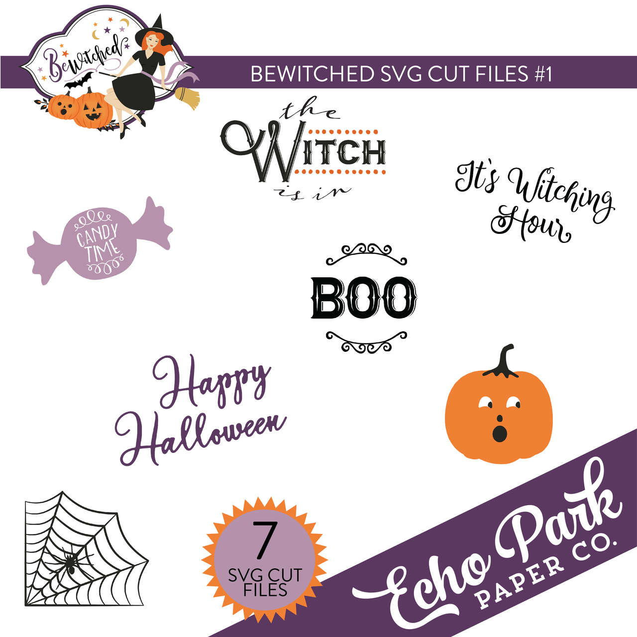 Bewitched SVG Cut Files #1