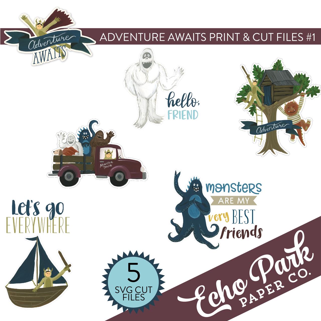 Adventure Awaits Print & Cut Files #1