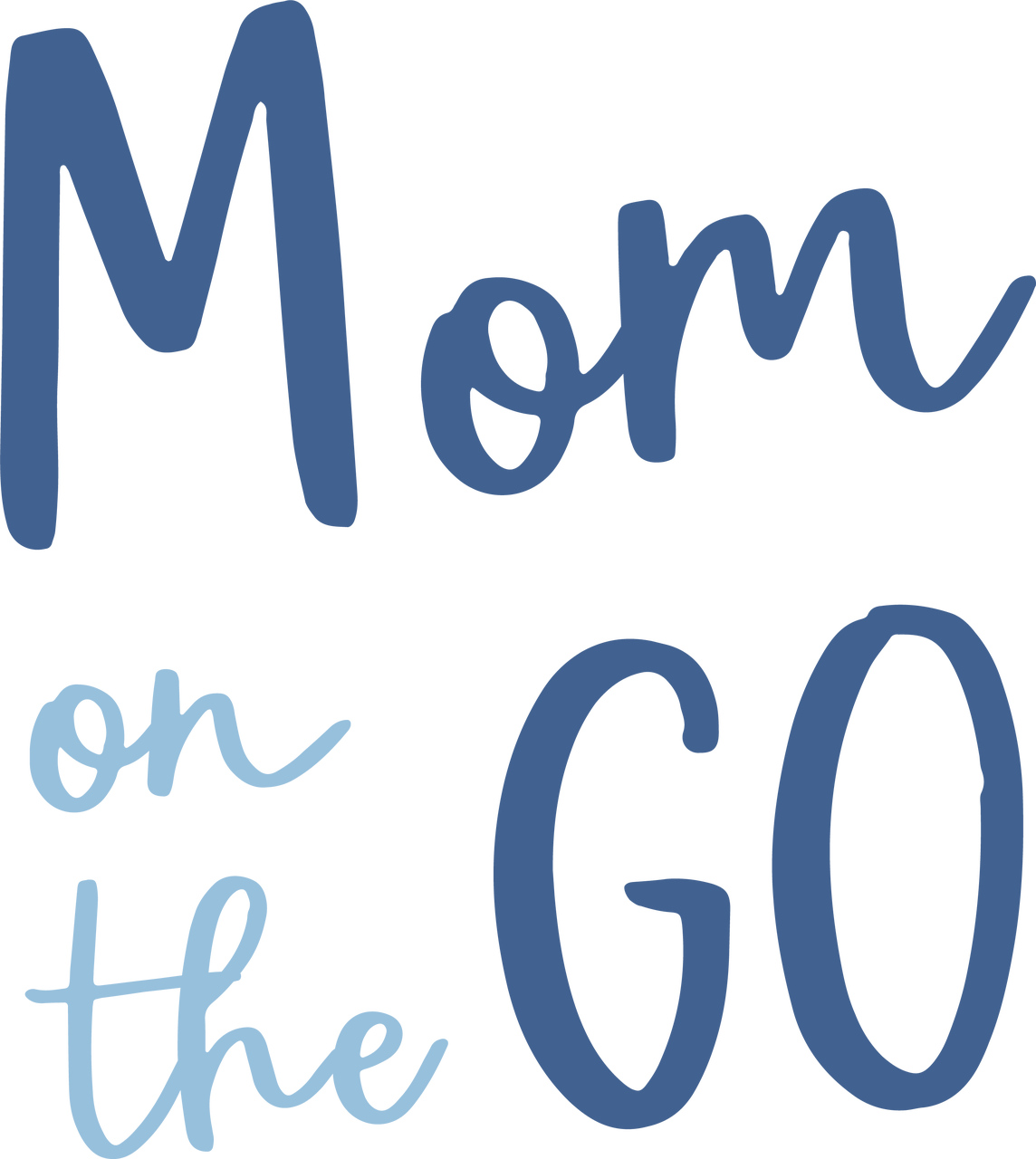 Mom On The Go SVG Cut File
