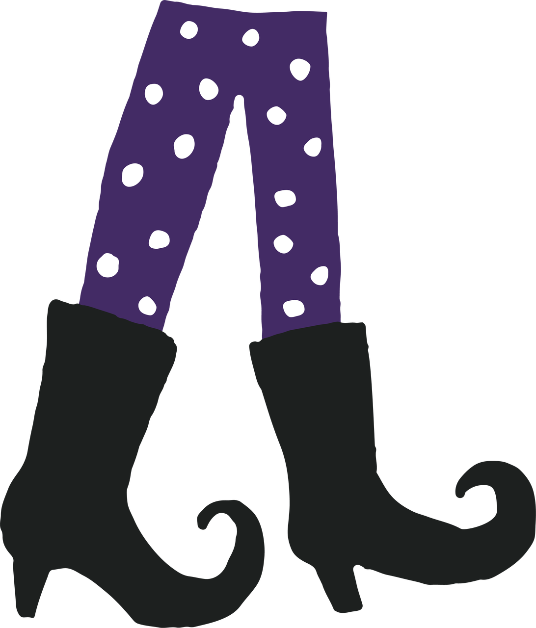 Witch's Feet SVG Cut File