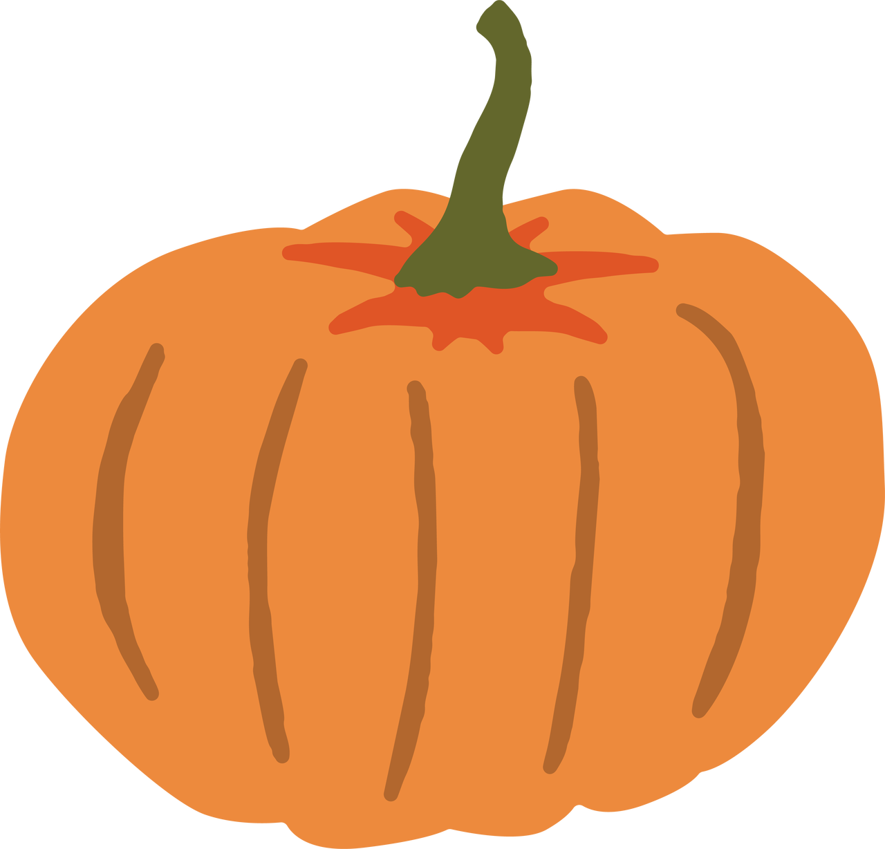 Fall Pumpkin SVG Cut File