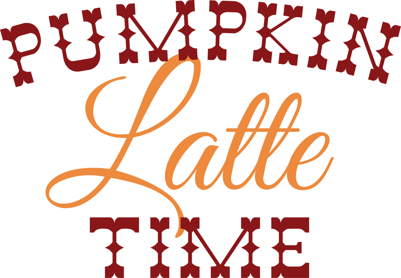 Pumpkin Latte Time SVG Cut File